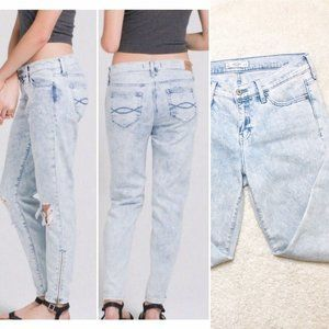 Abercrombie & Fitch Boyfriend 4 Allie Acid Jeans